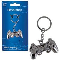 【USA直輸入】PlayStation プレイステーション コントローラー  型3D メタル キーホルダー キーチェーン キーリング ゲーム Game プレステ