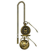 【USA直輸入】MARVEL ロキ ヘルメット柄 懐中時計 セプター 付き マーベル 腕時計 ポケットウォッチ ネックレス マイティソー Loki
