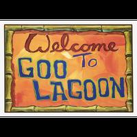 【USA直輸入】スポンジボブ ビーチ グー・ラグーン  Welcome To Goo Lagoon  木製 ウォールアート 看板 ポスター スポンジ・ボブ SpongeBob ニコロデオン