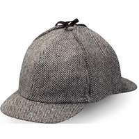 【USA直輸入】SHERLOCK シャーロック ウール ハット  Hanna Hats アイルランド製 帽子 カンバーバッチ BBC 鹿射ち帽 ディアストーカー キャップ 221B