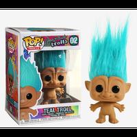 【USA直輸入】POP! Good Luck Trolls  グッドラック トロールズ トロール ティ-ル髪 青緑色 2 ポップ フィギュア FUNKO ファンコ ブルー