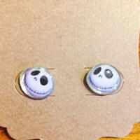 【USA直輸入】ナイトメアビフォアクリスマス ジャック フェイス スタッド ピアス DISNEY ディズニー