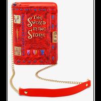 【USA直輸入】DISNEY 王様の剣 The Sword in the Stone ストーリーブック型 クロスボディバッグ ショルダーバッグ ディズニー ラウンジフライ 肩掛け