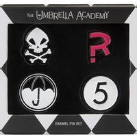 【USA直輸入】Umbrella Academy アンブレラアカデミー エナメル ピン 4個セット 傘 海外ドラマ アンブレラ アカデミー Netflix オリジナル作品 ダークホース ピンズ