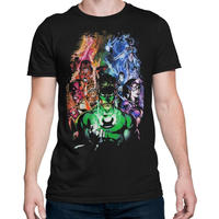 【USA直輸入】DC グリーンランタン  グループ Tシャツ DCコミックス