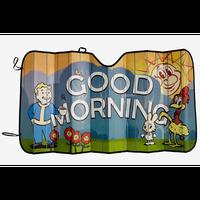 【USA直輸入】フォールアウト  ボルトボーイ Good Morning サンシェード Vault  111 GAME Fallout   Vault-Boy ゲーム 車用品 カー用品