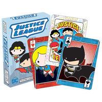 【USA直輸入】DCコミックス ジャスティスリーグ チビ トランプ プレイングカード バットマン スーパーマン ワンダーウーマン DC