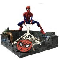 【USA直輸入】MARVEL スパイダーマン キーチェーン&  鍵置きスタンド スタチュー 置物 フィギュア マーベル Spider-Man ピーターパーカー