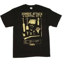 【USA直輸入】SHAUN OF THE DEAD ショーンオブザデッド サバイバルキット Tシャツ   ショーン・オブ・ザ・デッド  ホラー エドガーライト ゾンビ サイモンペッグ