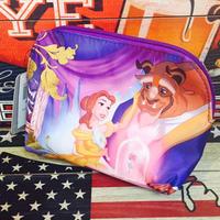 【USA直輸入】ディズニー 美女と野獣 コスメポーチ ベル プリンセス DISNEY  ポーチ