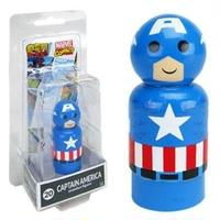 【USA直輸入】MARVEL Pin Mate ピン メイト 木製 フィギュア マーベル コミックス キャプテンアメリカ 20 2インチ Pin Mates Captain America フィギュア