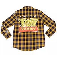 【USA直輸入】DISNEY トイストーリー Toy Story フランネルシャツ ネルシャツ 長袖 シャツ ディズニー ピクサー ウッディ・バズ・スリンキー・レックス・ハム・エイリアン