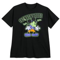 【USA直輸入】DISNEY  ミッキーマウス ハロウィン フランケンマウス Tシャツ 蓄光素材 ディズニー ミッキー