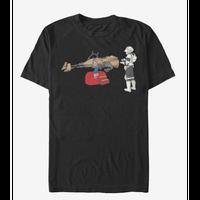 【USA直輸入】STARWARS トルーパー キッズ乗り物 スピーダーバイク Tシャツ 可愛いデザイン 黒地 スターウォーズ スカウトトルーパー 銀河帝国軍