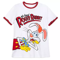 【USA直輸入】DISNEY Who Framed Roger Rabbit ロジャーラビット リンガー Tシャツ ディズニー トゥーンタウン ロジャー・ラビット