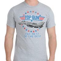 【USA直輸入】映画 トップガン ロゴ グレー Tシャツ 海外Tシャツ
