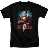 【USA直輸入】DC Shazam シャザム 携帯 & フーセンガム ロゴ Tシャツ ジャスティスリーグ DCコミックス ザッカリー・リーヴァイ シャザム!