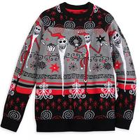 【USA直輸入】DISNEY ナイトメアビフォアクリスマス サンタ ジャック ライトアップ セーター ディズニー ナイトメア 長袖 サンディクローズ