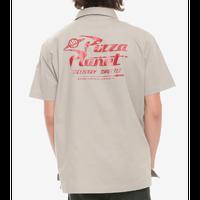 【USA直輸入】Disney トイストーリー ピザプラネット ボタンダウンシャツ 半袖 ディズニー アンディ ウッディ バズ toystory シャツ  エイリアン ピザ屋