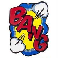 【USA直輸入】 DCコミックス BANG 文字 メタル ブリキ看板 吹き出し 文字 アメコミ 効果音 壁掛け DC