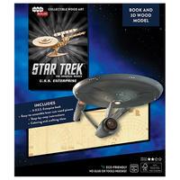 【USA直輸入】スタートレック U.S.S. Enterprise  宇宙大作戦 エンタープライズ 3D 木製 モデル 本 スタトレ  Star Trek TOS