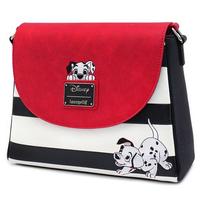【USA直輸入】DISNEY 101匹わんちゃん 白黒ボーダー ショルダーバッグ ディズニー ラウンジフライ  Loungefly 肩掛け バッグ ダルメシアン 犬