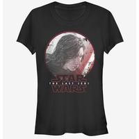 【USA直輸入】STARWARS カイロレン 横顔 黒地 レディースLサイズ Tシャツ スターウォーズ