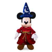 【USA直輸入】DISNEY  ファンタジア ミッキー ぬいぐるみ Mサイズ プラッシュ 魔法使い ソーサラー ミッキーマウス