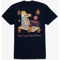 【USA直輸入】MARVEL  マーベル・イート・ザ・ユニバース アベンジャーズ タワー ジンジャーブレッド Tシャツ バックプリント マーベル アベンジャーズ アイアンマン ブラックパンサー