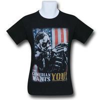 【USA直輸入】DC ウォッチメン コメディアン  Wants You Tシャツ DCコミックス