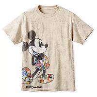 【USA直輸入】DISNEY  ミッキーマウス スルー・ザ・イヤー 総柄 Tシャツ Sサイズ ビンテージ風 ディズニー ミッキー アパレル