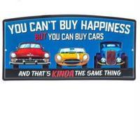 【USA直輸入】ブリキ看板 Can Buy Cars エンボス加工 KINDA メタルサイン ブリキ 看板  企業 ブリキ看板 ポスター 車 ブルー