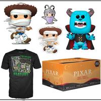 【USA直輸入】PIXAR FUNKO ハロウィーン エクスクルーシブ ボックス POP! フィギュア ポップ & Tシャツ & ピンズ & シール モンスターズインク トイストーリー ディズニー
