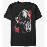 【USA直輸入】MARVEL アベンジャーズ エンドゲーム キャプテンマーベル タグ Tシャツ Sサイズ マーベル 映画 MCU Captain Marvel