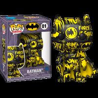 【USA直輸入】POP! DC BATMAN アート シリーズ 01 ブラック イエロー FUNKO ファンコ フィギュア バットマン バットサイン バットシグナル DCコミックス  限定品