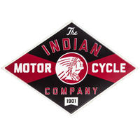 【USA直輸入】ブリキ看板 インディアン モーターサイクル  カンパニー  壁掛け メタルサイン 看板 インテリア Indian Motorcycle