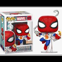 【USA直輸入】POP! MARVEL スパイダーマン with  ピザ 672 FUNKO ファンコ フィギュア マーベル ピザボックス ウェブシューター Pizza Spider-Man