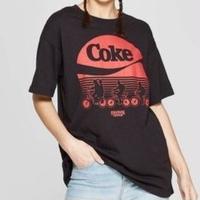 【USA直輸入】ストレンジャーシングス Coke ロゴ & 自転車 Tシャツ ウィル ダスティン ルーカス マイク Stranger Things ネットフリックス コーク コカコーラ