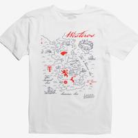 【USA直輸入】ゲームオブスローンズ ウェスタロス マップ Tシャツ Sサイズ ゲーム・オブ・スローンズ 氷と炎の歌の世界 Westeros GOT Game Of Thrones