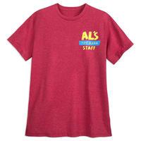 【USA直輸入】Disney トイストーリー Al's Toy Barn  アルのおもちゃ屋  アルズトイバーン スタッフ Tシャツ toystory ディズニー  ウッディ バズ 半袖