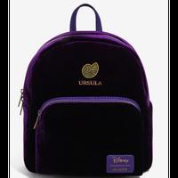 【USA直輸入】DISNEY リトルマーメイド アースラ 紫色 ベルベット ミニ バックパック リュック ディズニー バッグ アリエル ヴィランズ ラウンジフライ loungefly