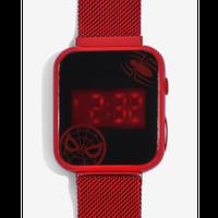 【USA直輸入】MARVEL スパイダーマン LED  タッチ  スクリーン 腕時計 リストウォッチ メタル メッシュ ストラップ マーベル ロゴ Spider-man ピーター・パーカー