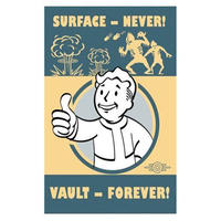 【USA直輸入】ブリキ看板 フォールアウト Surface Never  Vault Forever ボルトボーイ ティンサイン プロップレプリカ Vault  Fallout  ゲーム  GAME
