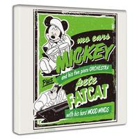 【アートデリ】ディズニー ミッキーマウス ピート 音楽 ファブリックパネル ポスター 看板 DISNEY