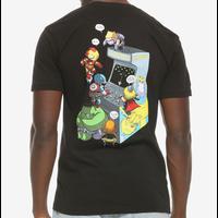 【USA直輸入】MARVEL アベンジャーズ アーケード ロゴ Tシャツ マーベル 映画 MCU Iron Man ソー アイアンマン キャプテンアメリカ ゲーム