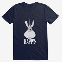 【USA直輸入】Happy! ハッピー ユニコーン フェイス 紺色 Tシャツ Netflixオリジナルドラマ ネットフリックス 殺し屋  ブラックコメディ  ニック・サックス