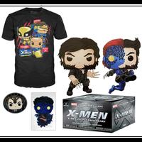 【USA直輸入】MARVEL FUNKO マーベル コレクターコープス X-Men 20thアニバーサリー POP! Tシャツ フィギュア Xメン エックスメン ポップ ローガン ミスティーク