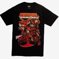 【USA直輸入】MARVEL デッドプール いっぱい Tシャツ マーベル  デップ