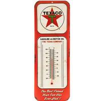 【USA直輸入】ウォールデコ ブリキ看板 テキサコ サーモメータ― 温度計 壁掛け エンボス加工 メタルサイン 看板 インテリア   Texaco