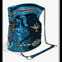 【USA直輸入】DISNEY アラジン ジャスミン ダーク ターコイズ クラッシュド・ベルベット   バケット バック 魔法のランプ ディズニー ショルダーバッグ バッグ Aladdin